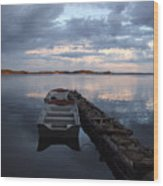 On The Gouin Reservoir In Quebec Wood Print