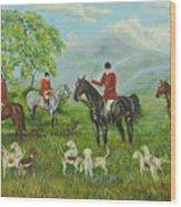 On The Hunt Wood Print