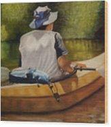 On The Kickapoo Wood Print by Marcia  Hero