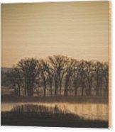 On The Marsh Wood Print