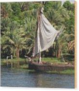 On The Nile Wood Print