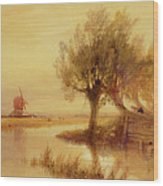 On The Norfolk Broads Wood Print