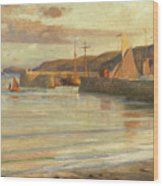 On The North Devon Coast Wood Print