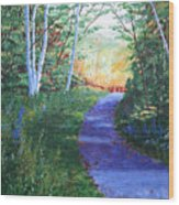 On The Path Wood Print