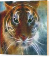 On The Prowl Wood Print by Madeline  Allen - SmudgeArt