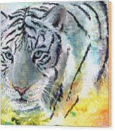 On The Prowl Wood Print by Sherry Shipley