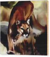 On The Prowl Wood Print