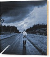 On The Road Wood Print