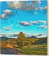 On The Road In Wv Wood Print