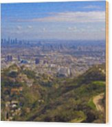 On The Road To Oz La Skyline Runyon Canyon Hiking Trail Wood Print