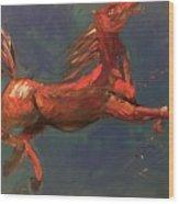 On The Run - Horse Wood Print