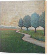 On The Rural Road Wood Print