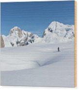 On The Ruth Glacier Wood Print
