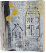 On The Same Street Wood Print by Linda Woods