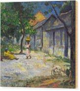 Village In Martinique Wood Print