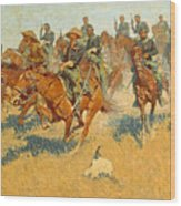 On The Southern Plains Frederic Remington Wood Print