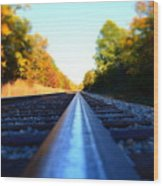 On The Track Wood Print