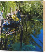 On The Water Wood Print