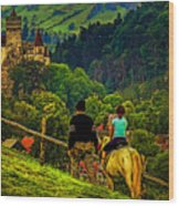 On The Way To Bran Castle Wood Print