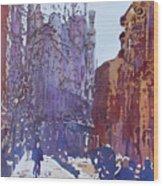On The Way To The Sagrada Familia Wood Print