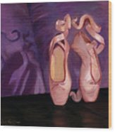 On Pointe - Mirror Image By Marilyn Nolan-johnson Wood Print