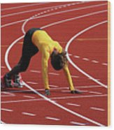 Track And Field 1 Wood Print