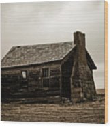 Once A Farmers Home Wood Print