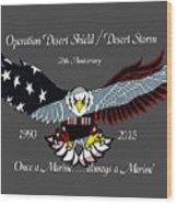 Once A Marine Wood Print