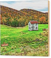 Once Upon A Mountainside 2 - Paint Wood Print