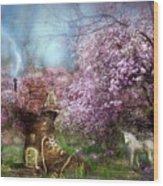Once Upon A Springtime Wood Print