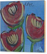 Once Upon A Yoga Mat Poppies 2 Wood Print
