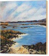 One Beach Washington Wood Print