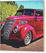 One Cool 1937 Ford Roadster Wood Print