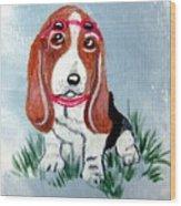One Cool Basset Hound Wood Print