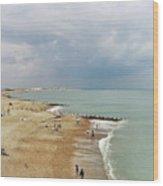 One Cool Beach Day  Wood Print