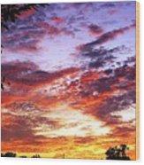 One Dawn Autumn Sky Wood Print