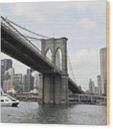 One Day At Brooklyn Bridge Wood Print