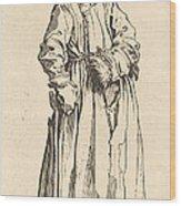 One-eyed Woman Wood Print