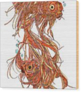 One Fish Two Fish Wood Print