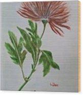 One Flower Wood Print
