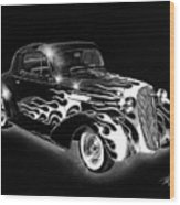 One Hot 1936 Chevrolet Coupe Wood Print