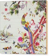 One Hundred Birds With A Phoenix, Canton, Republic Period Wood Print