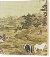 One Hundred Horses 5 Wood Print