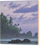 One Man Island Wood Print