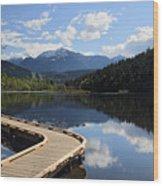 One Mile Lake Walkway Pemberton Wood Print