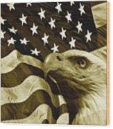One Nation  Wood Print