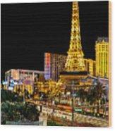 One Night In Vegas Wood Print