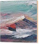 Wave Mountain Wood Print