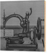 One Of The First Sewing Machines Wood Print