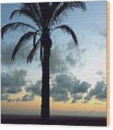 One Palm Wood Print